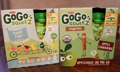 GoGo Squeez On the Go Applesauce Pouches