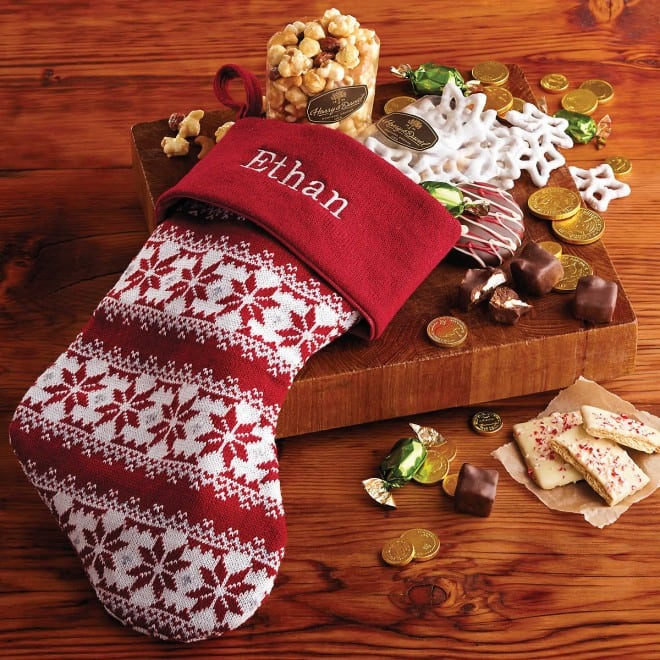 Harry & David Personzlied Christmas Stocking with Treats