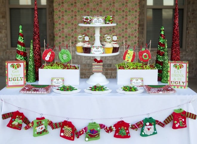Ugle Sweater Party Dessert Table Ideas