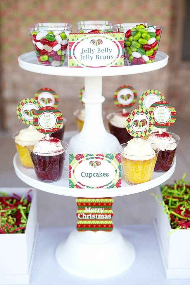 Ugly Sweater party Cupcakes