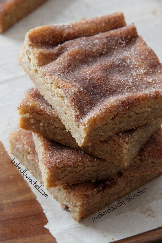 snickerdoodle blondies bar