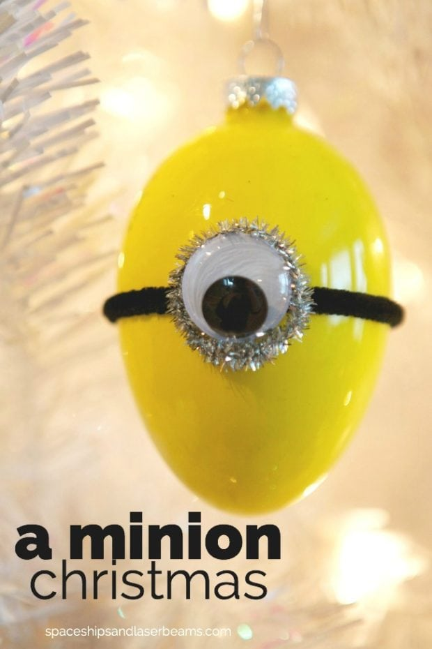 DIY Minion Christmas Bulb