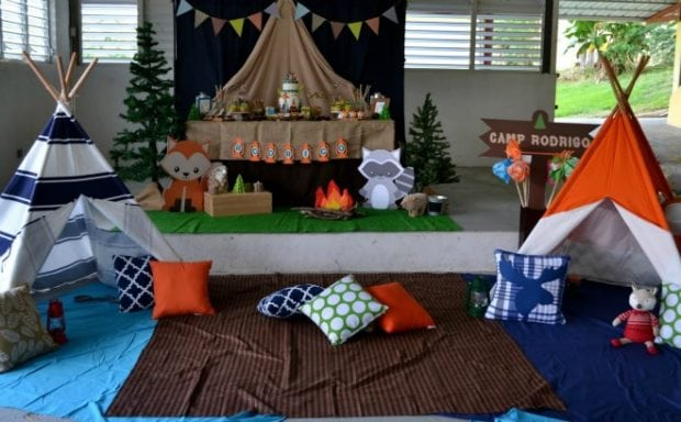 feature Boys Woodland Themed Party Camping Decorations - Birthday Celebration Ideas