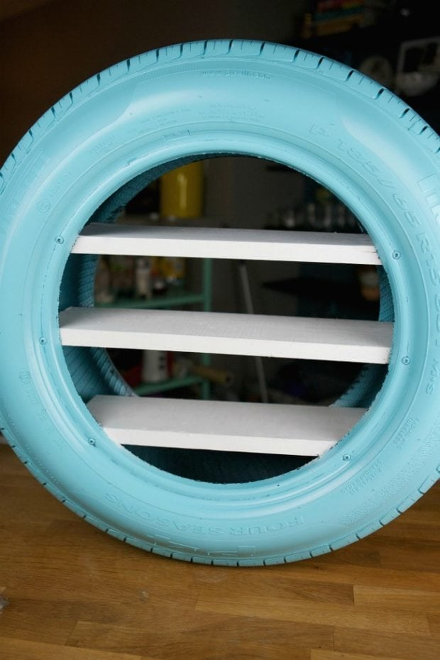 How to Turn a Tire into a Shelf
