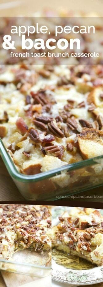 Apple Pecan and Bacon Strata Breakfast Casserole