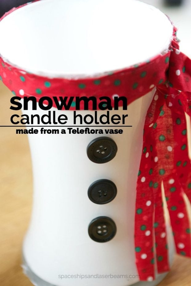 Snowman Candle Holder from a Vase