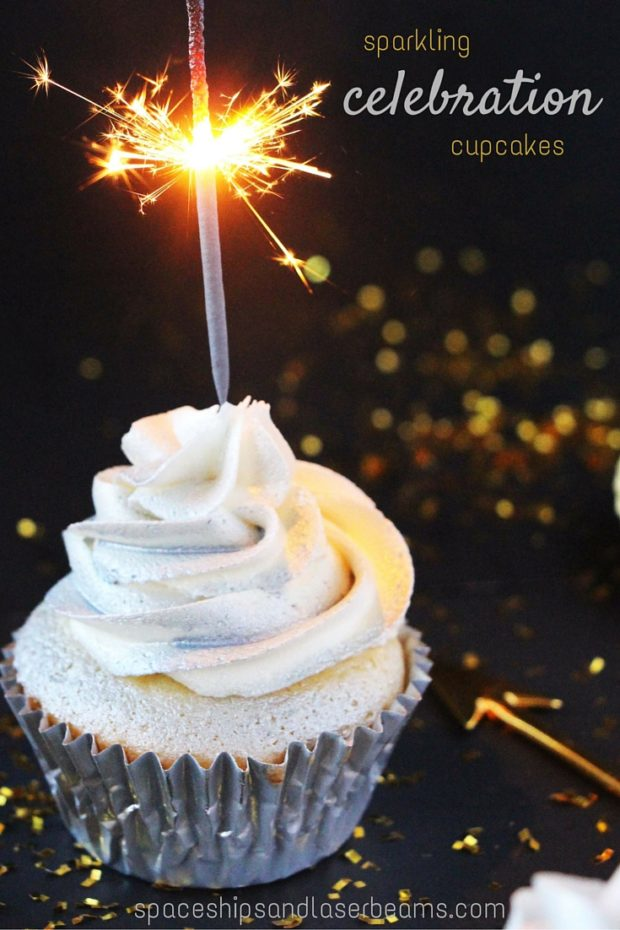 Sparkling Celebration Cupcakes Spaceships And Laser Beams