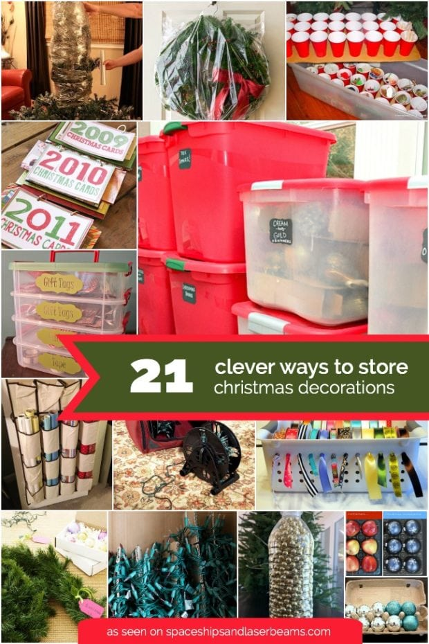 ways to store christmas decoratons after christmas