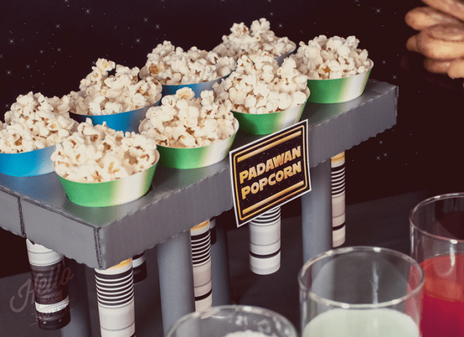 star wars printable treat cones - Star Wars Decorations