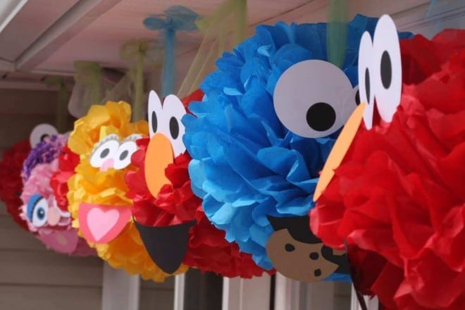 Sesame Street Character Pom Decorations