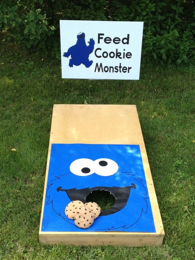 Feed Cookie Monster Cornhole Game