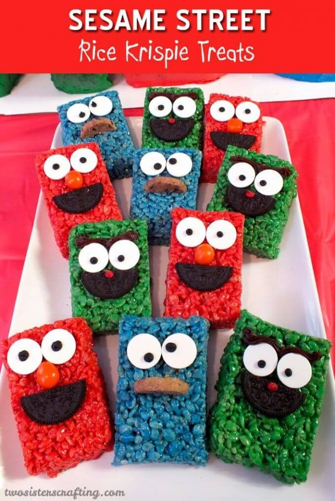 Sesame Street Rice Krispy Treats