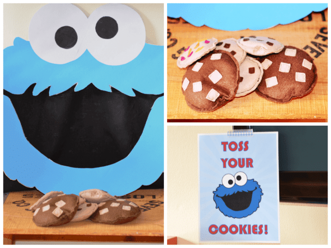 Toss Your Cookies Cookie Monster Game