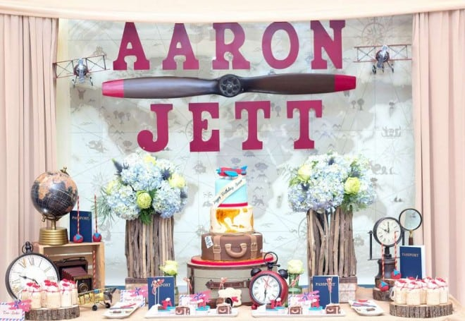 DESIGN via CATCH MY PARTY :: Vintage Airplanes Themed Birthday Party ...