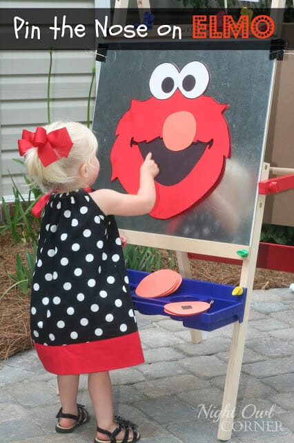 Pin the Nose on Elmo Game