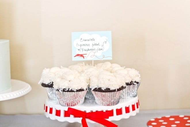Airplane Themed Boys Birthday Party Food Cupcake Ideas (1)