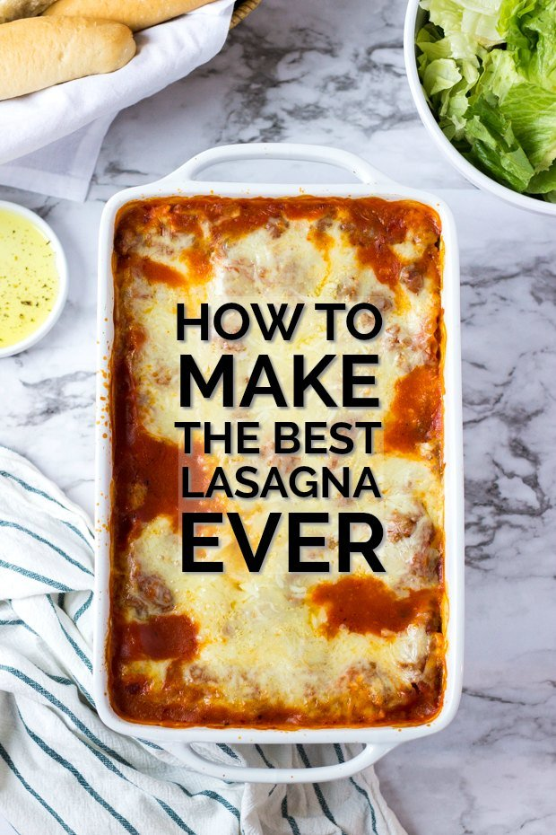 CHEESY LASAGNA IN CASSEROLE DISH