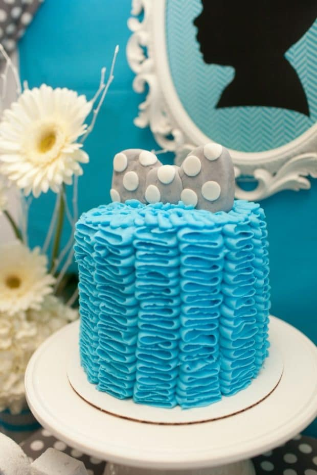 Bow Tie Themed Birthday party food cake ideas