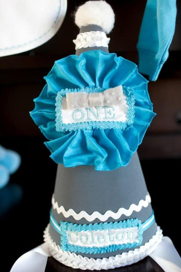 Boys Bow Tie Themed Birthday Party Hat