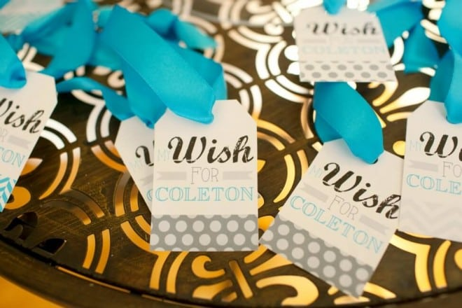 Boys Bow Tie Themed Birthday Party wish tree tags
