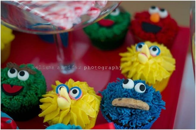Elmo Birthday Party Cupcake ideas