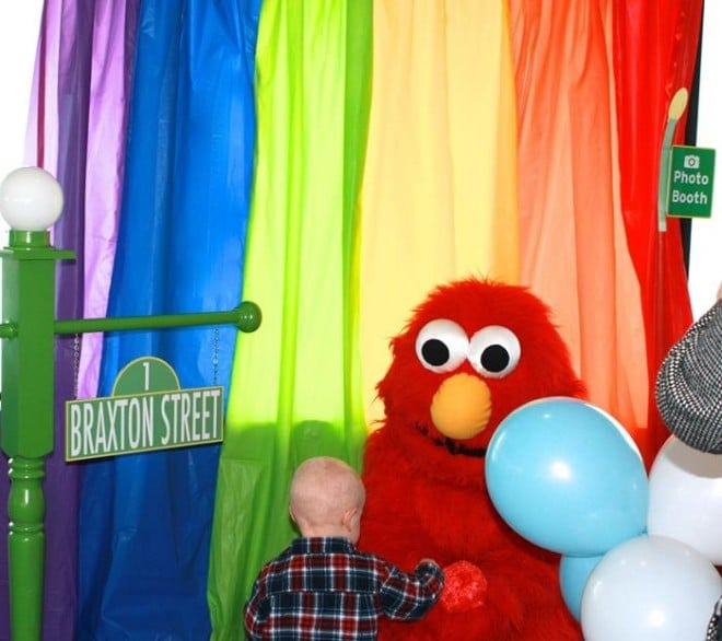 Elmo Themed Birthday party photo booth