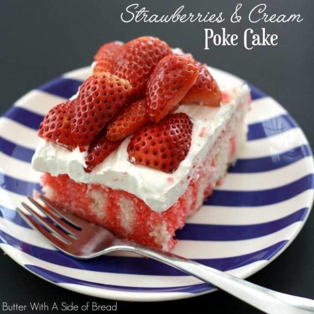 Favorite Strawberry Poke Cake