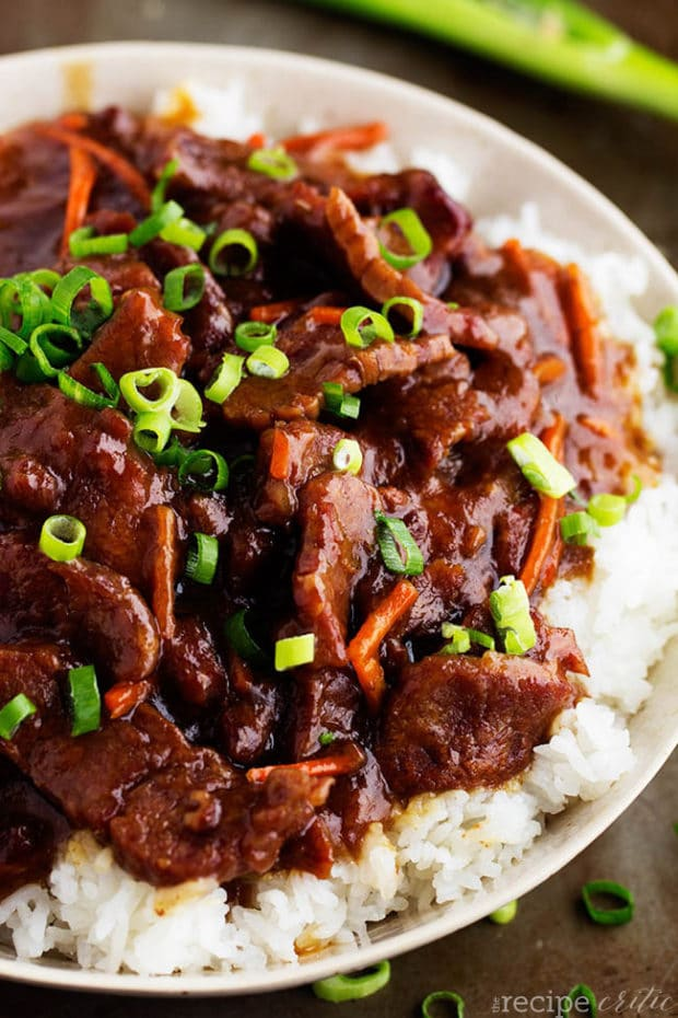 Popular slow cooker mongolian beef