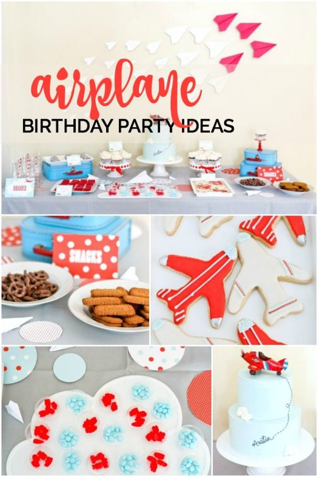 Airplane birthday party spaceships and laser beams for Airplane party decoration