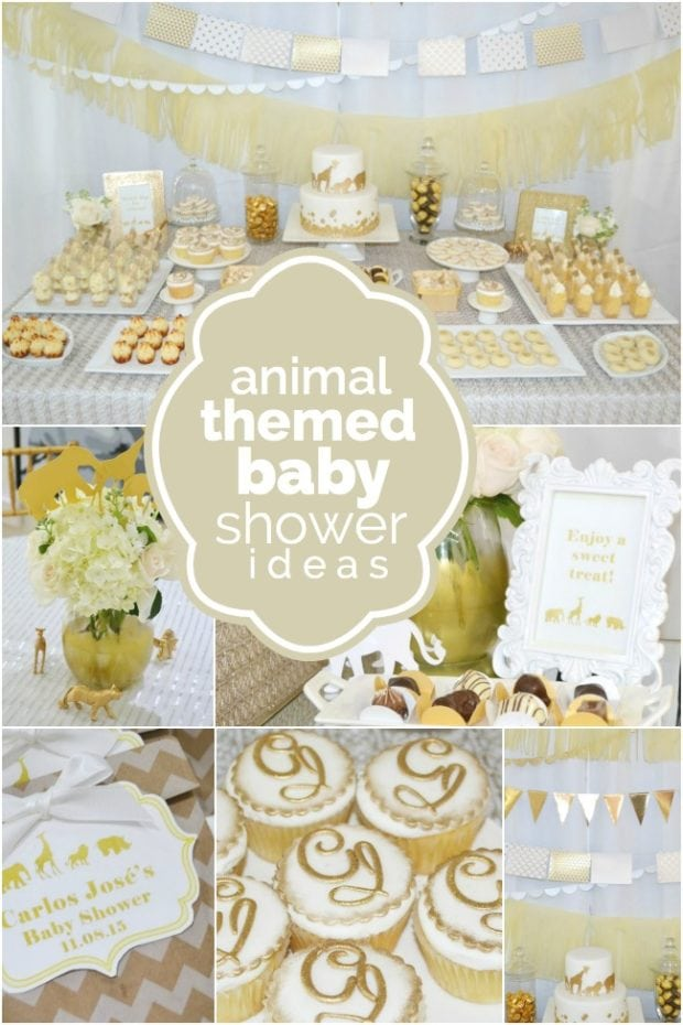 Lovely Animal Themed Baby Shower Ideas