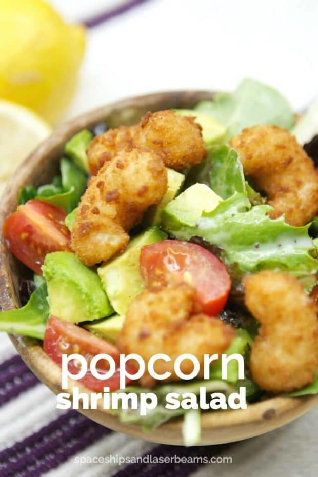 Avocado Popcorn Shrimp Salad