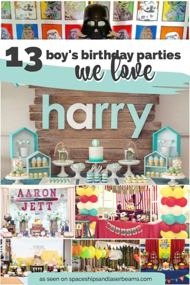 13 Cool Boy S Birthday Parties We Love Spaceships And