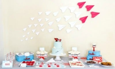 Airplane Themed Birthday Party Dessert Table Ideas