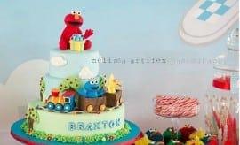 feature-Elmo Birthday Party Table Ideas
