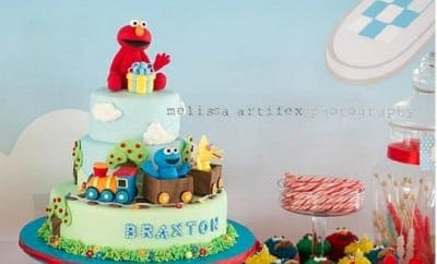 feature-Elmo Birthday Party Table Ideas