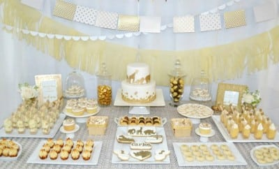 Golden Animal Safari Baby Shower Desset Table Ideas