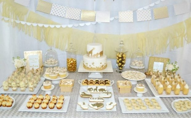 A Golden Safari Themed Baby Shower Spaceships And Laser