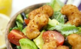 Avocado Popcorn Shrimp Salad