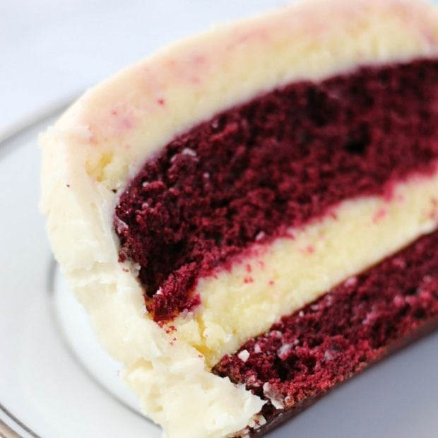 red velvet cheesecake - square