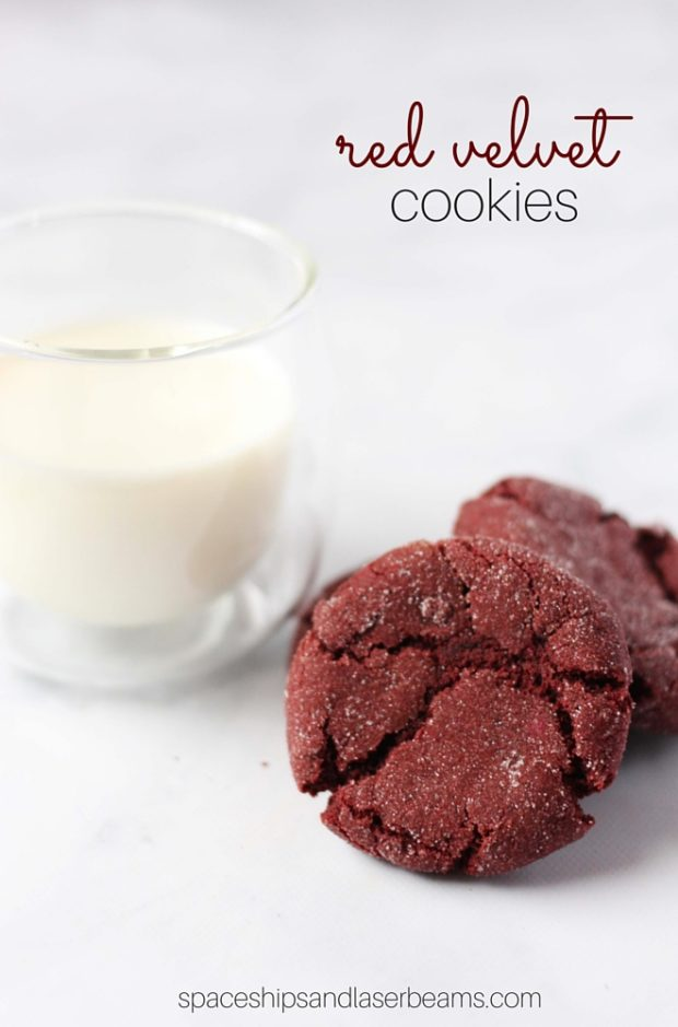 The perfect red velvet cookie recipe from Spaceship and Laser Beams.