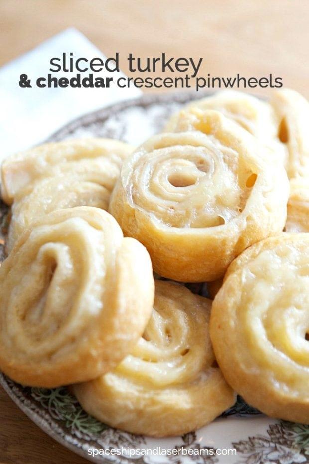 Turkey & Cheddar Crescent Roll Pinwheels