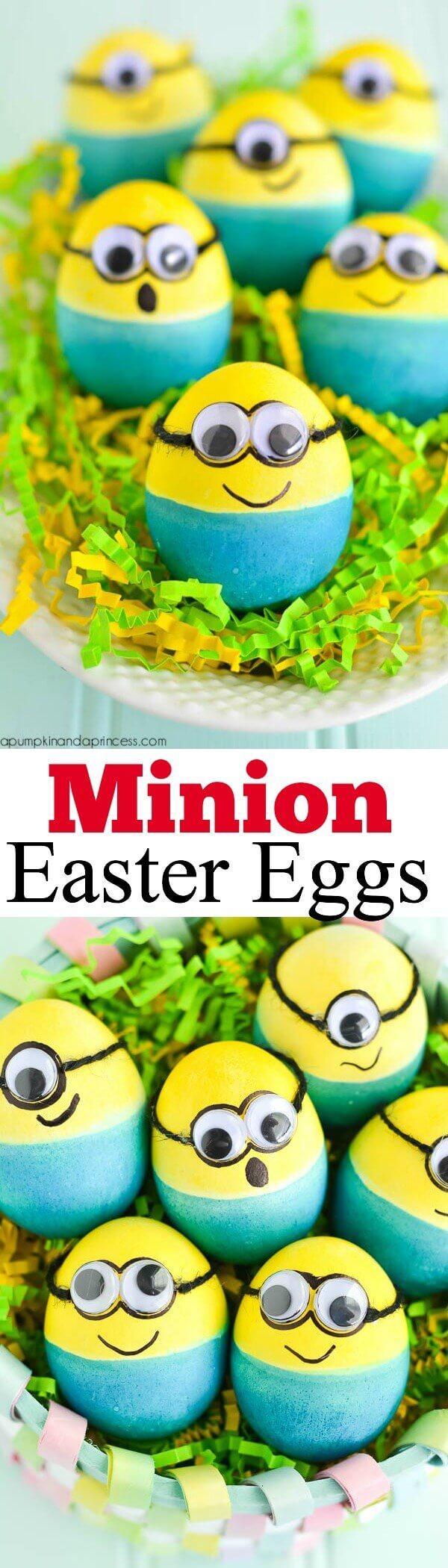 Adorable Minion Easter Egg decorating idea