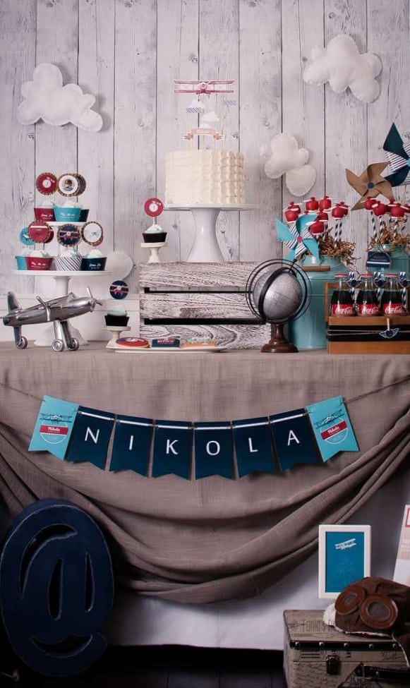 1 airplane themed first birthday ideas