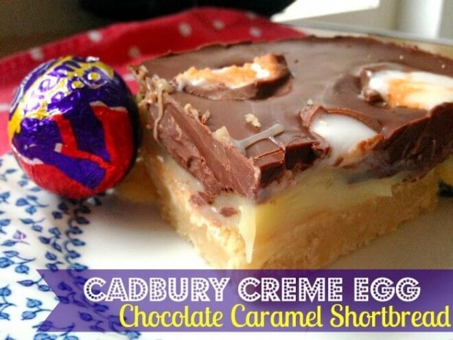 Cadbury Crème Egg Chocolate Caramel Shortbread