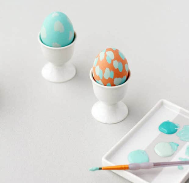 Simple, pastel Easter egg decorations.
