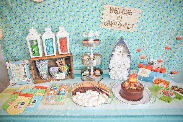 Camping Birthday Party Dessert Table