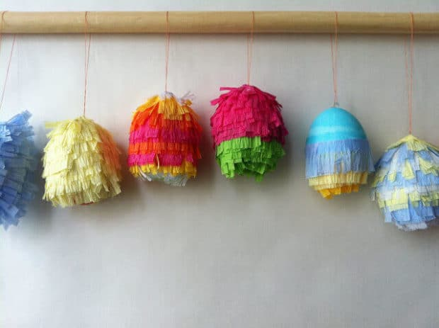 Piñata-themed Easter eggs