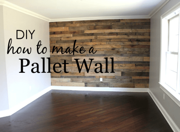 Decorate A Wall With Pallet To Give Your Home Rustic Feel