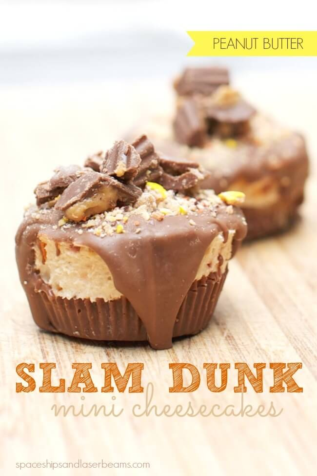 Reese's Peanut Butter Slam Dunk Mini Cheesecakes