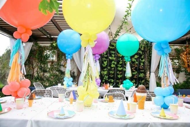 2 ice cream themed birthday party